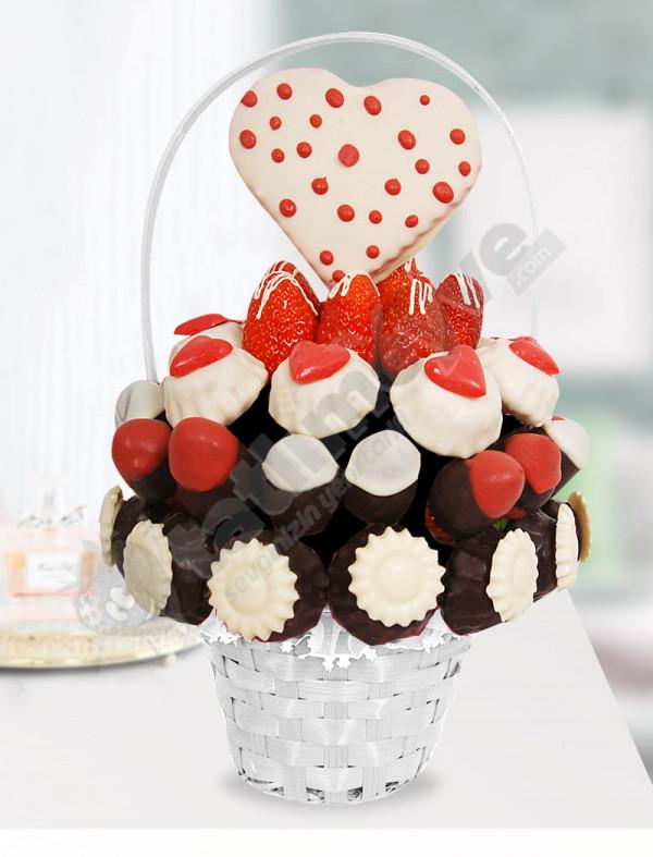 Chocolate Basket Meyve Sepeti