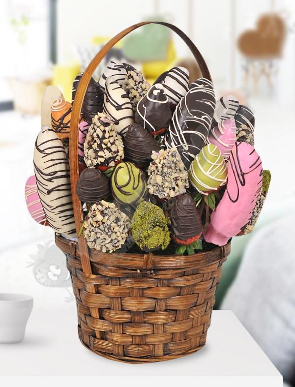 Elite Çikolatalı Meyve Sepeti