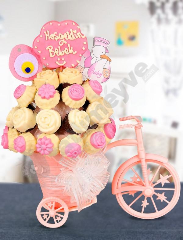 Pink Bicycle Bebek Hediyesi