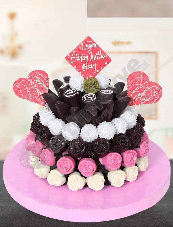Pinkday -Doğum Günü Pastası