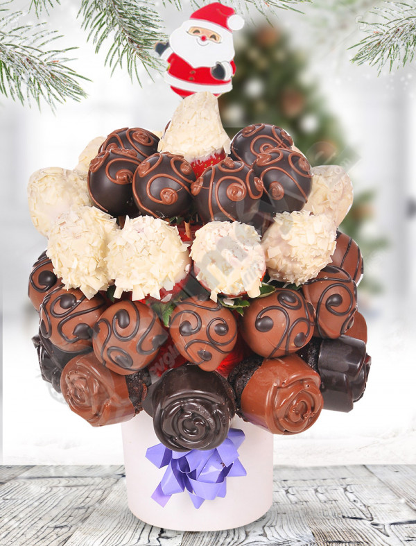 Sütlü Çikolatalı Meyve Sepeti