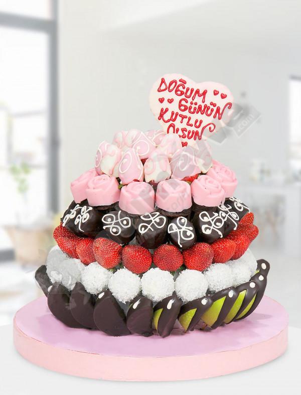 Pink Days Doğum Günü Pastası