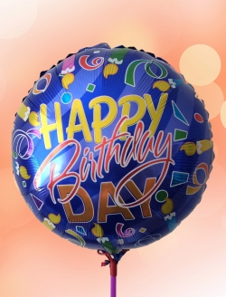 Balon Happy Birthday Mavi