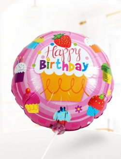 Balon Happy Birthday Pembe