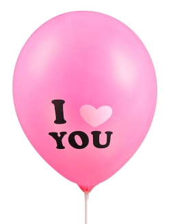 Balon I Love You Pembe 5