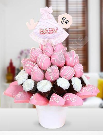 BabyGirl Çikolatalı Bebek Sepeti
