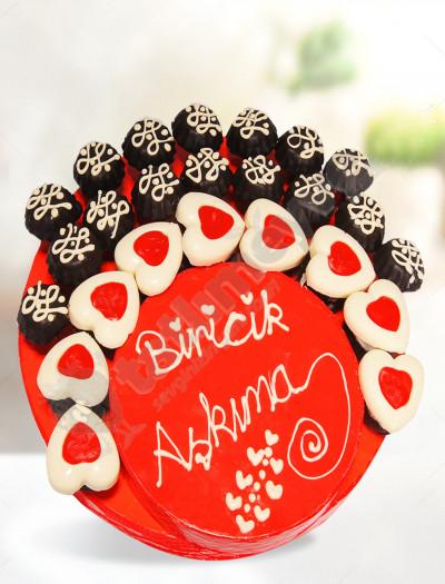 Biricik Aşkıma Kek Sepeti