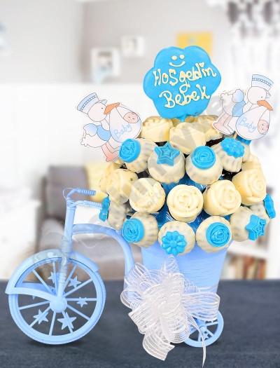Blue Bike Bebek Hediyesi