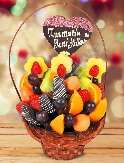 Christmas Basket Meyve Sepeti
