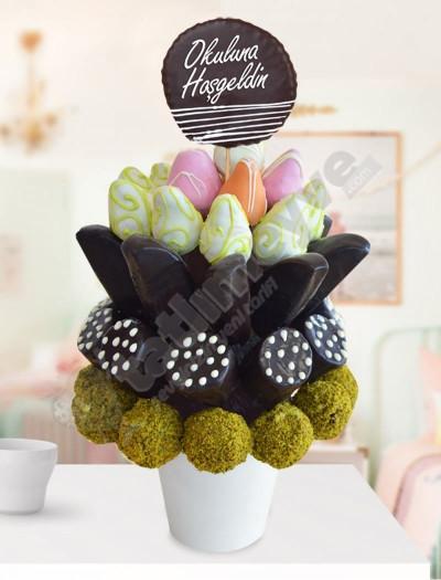 Elite Sweet Çikolatalı Meyve Sepeti