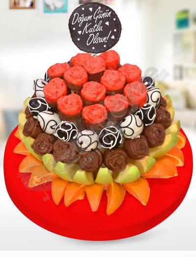 Fruit Cake Doğum Günü Pastası