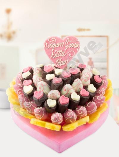 Fruit Surprise Doğum Günü Pastası