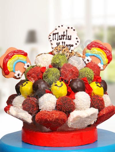 Gülen Pasta Doğum Günü Hediyesi