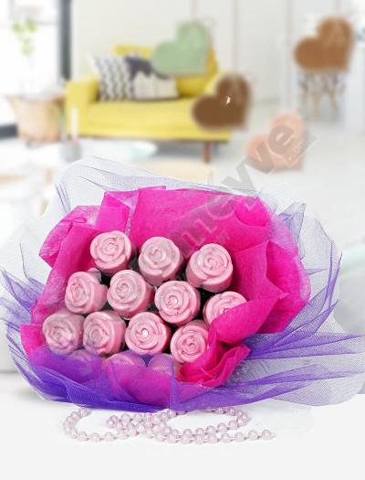 Love Roses- Kek Buketi