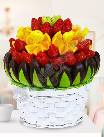 Melly Çikolatalı Meyve Sepeti