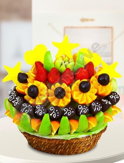 Nilly Çikolatalı Meyve Sepeti