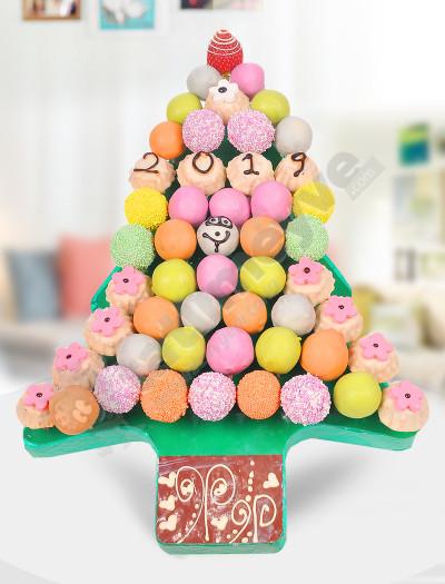 Noel Ağacı Hediye Sepeti