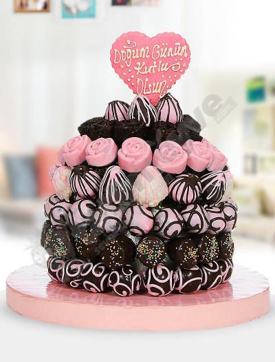 Neşeli Tatlar Doğum Günü Pastası