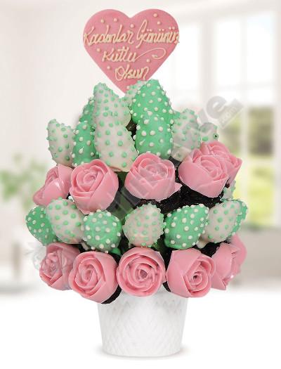 Pink Green Meyve Çiçekleri