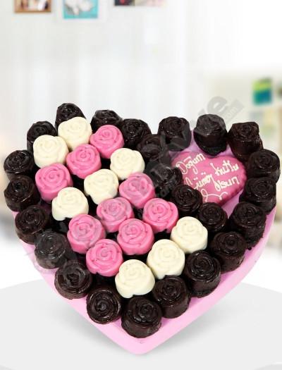 Pinky Heart -Kek Çiçekleri
