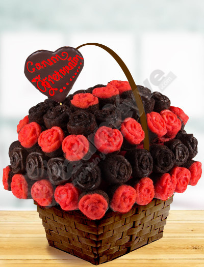 Rose Basket Kek Sepeti
