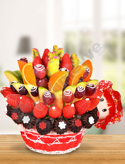 Sevimli Bebek Meyve Sepeti