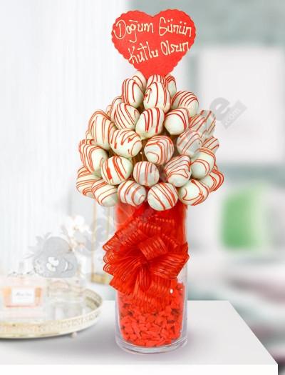 SweetMom  Çikolata Çilek Sepeti