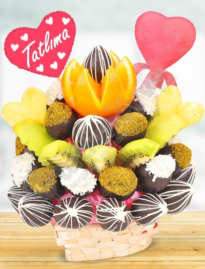 Tatlı Kalp Meyve Sepeti