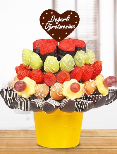 Tatlı Kutlama Meyve Sepeti