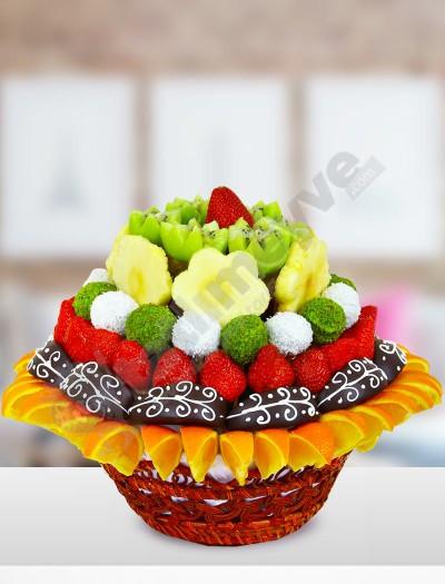Tessy Çikolatalı Meyve Sepeti
